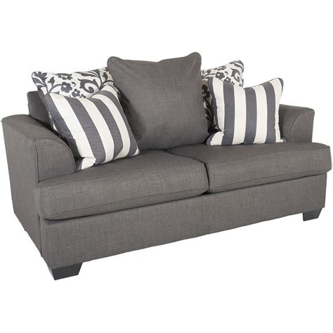 levon charcoal sofa levon charcoal loveseat ll 734 l furniture