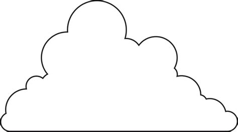 Cloud Template Cloud Outline Clipartion