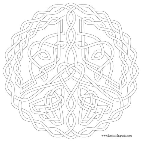 free celtic knot coloring pages