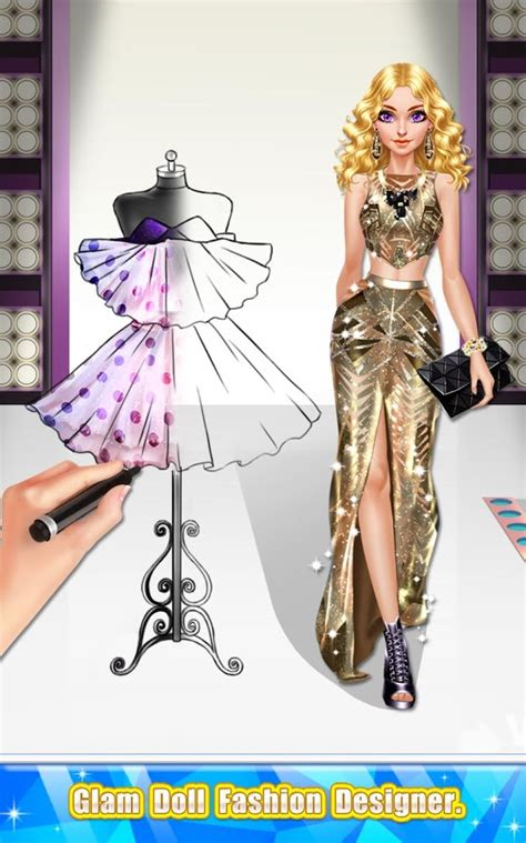 design doll clothes online glam doll fashion designer android apps on google play