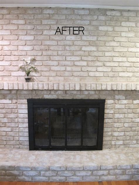 best paint colors to pair with brick walls tutorial how to paint a brick fireplace painted brick fireplaces fireplaces and wood mantle