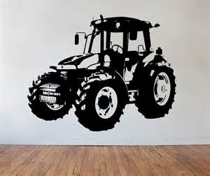 Childrens Wall Mural Stickers childrens tractor wall art sticker farming vehicle vinyl mural wa525