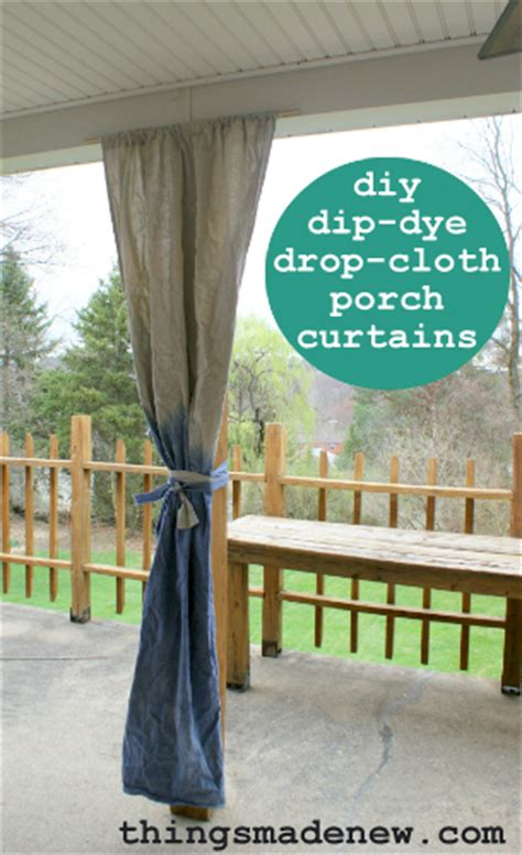 dye drop cloth curtains hometalk diy dip dye drop cloth curtains