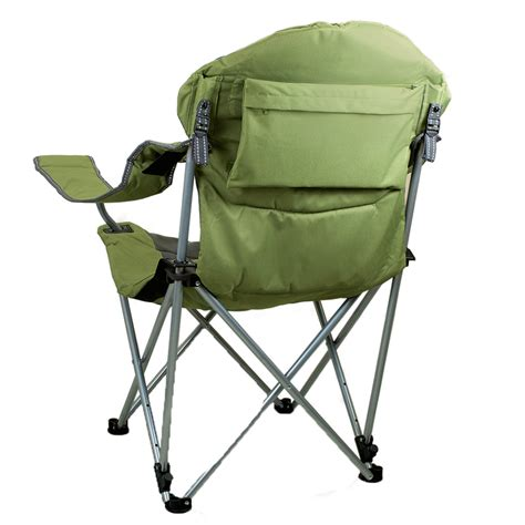 reclining folding chair reclining c chair sage green picnic time 803 00 130