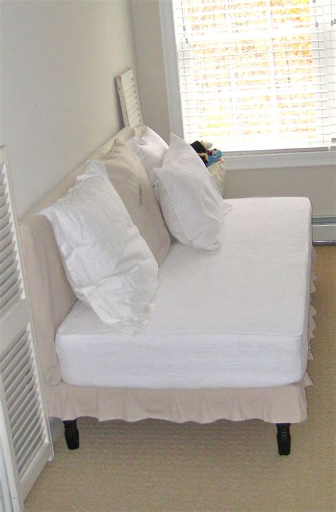 mattress as couch deux maison twin sized upholstered slip covered daybed