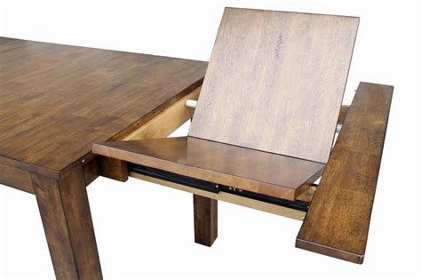 Dining Room Table Plans With Leaves Dining Leg Table With 2 Self Storing Butterfly Leaves By Aamerica Wolf And Gardiner Wolf Furniture