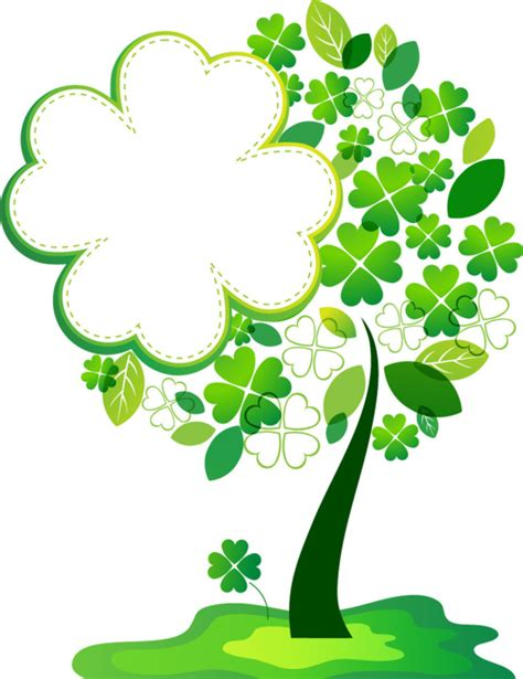 st patrick s day tree luky four leaf clover holiday