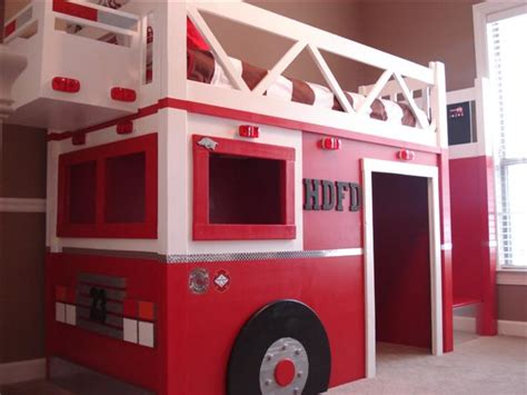 Ana White Fire Truck Bed Diy Projects Fireman Bunk Bed