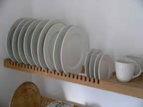 kitchen plate rack is an extension of the solid beech