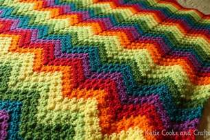 katie cooks and crafts rumpled ripple rainbow crochet