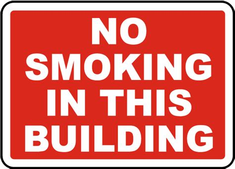 no smoking sign leed no smoking in this building sign j2511 by safetysign com