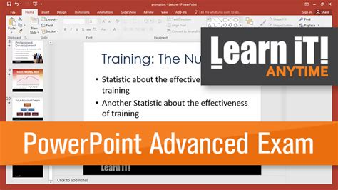 advanced powerpoint tutorial videos microsoft powerpoint certificate exam advanced learn