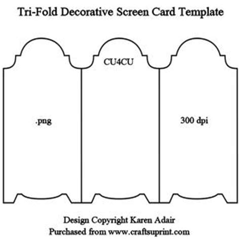 tri fold single card template gift bag template cup189244 168 craftsuprint