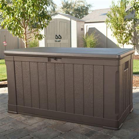 costco outdoor storage bench costco uk lifetime 439 litre outdoor storage deck box
