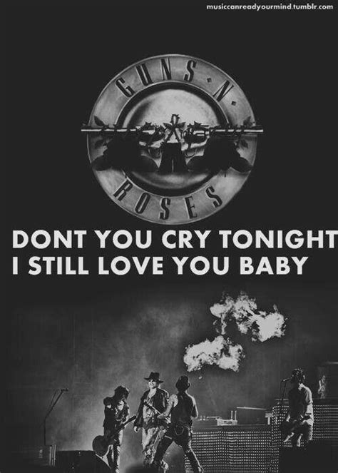 dont cry testo armi guns n roses and on