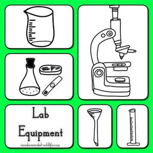 Chemistry equipment clipart botany lab science clipart