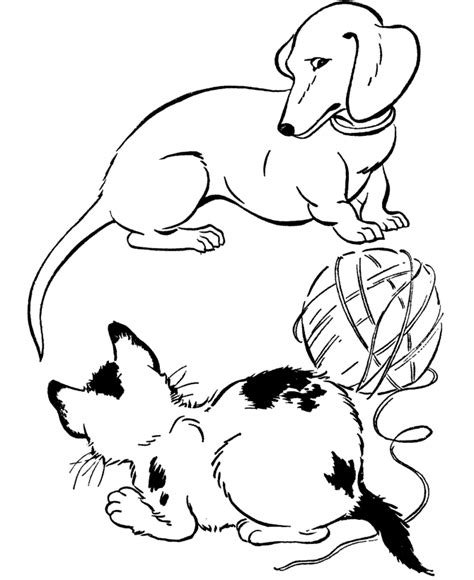 coloring pages with dogs and cats free printable coloring pages for