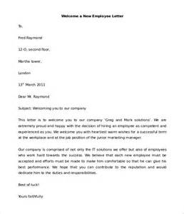 New Hire Letter Template by 29 Hr Welcome Letter Templates Free Sle Exle