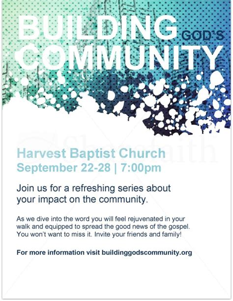 Building God S Community Flyer Template Flyer Templates Community Flyer Template