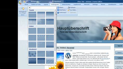 tutorial artisteer wordpress artisteer tutorial wordpress templates ohne design