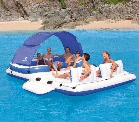 floating boat island floating island inflatable lake lounger