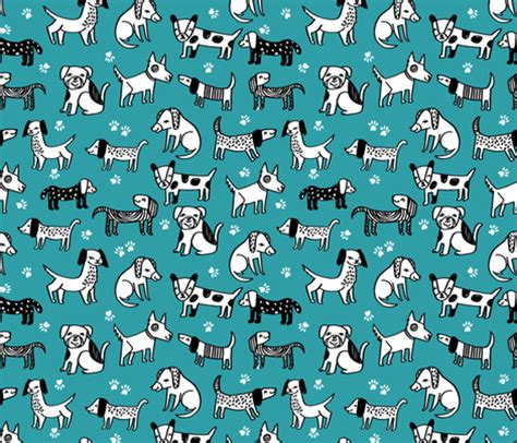 dog pattern fabric uk dog dogs pet hand drawn illustration funny cute kawaii