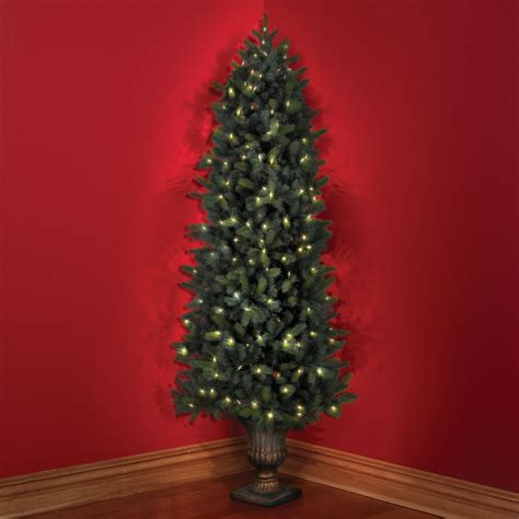the cordless prelit douglas fir corner tree 7
