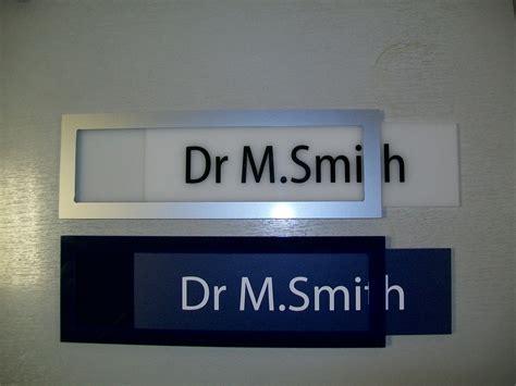 sliding door plaques custom office door signs with