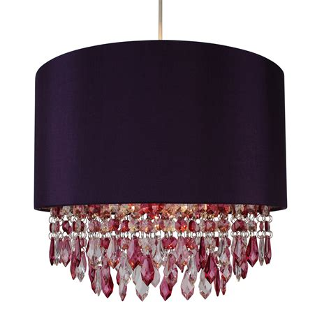 modern easy fit drum shade plum fabric ceiling pendant