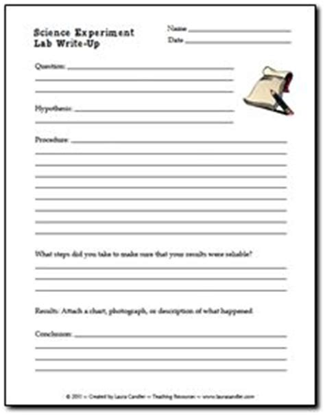 science lab report template for middle school free science experiment write up form elementary