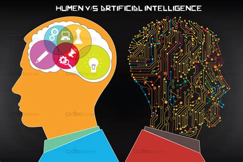 human  artificial intelligence infographics vector