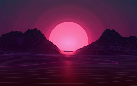neon sunset  wallpapers hd wallpapers id