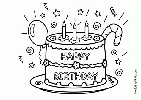 free coloring pages that say happy birthday get this happy birthday coloring pages free printable 46170
