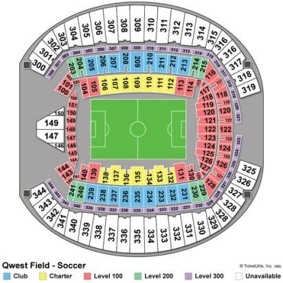 centurylink field seating map vipseats centurylink field tickets