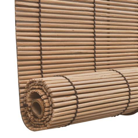 Bamboo Roller Blinds Vidaxl Co Uk Brown Bamboo Roller Blinds 120 X 220 Cm