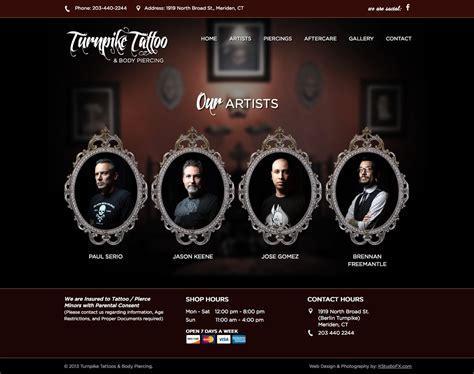 tattoo websites design website designs