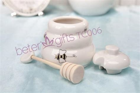 Honey Pot Favors Baby Shower by Meant To Bee Ceramic Honey Pot Baby Shower Favors Tc006