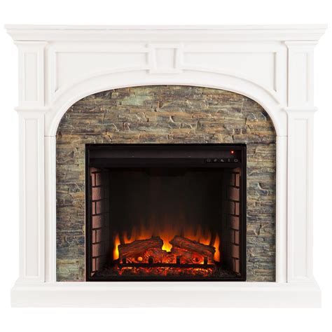 stack fireplaces southern enterprises tanaya stacked fireplace white 671474 fireplaces at sportsman s guide