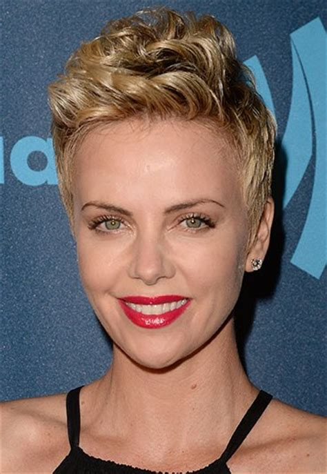 short old fashioned haircuts charlize theron sporting an 2017 gorgeous celebrities with short curly haircuts new