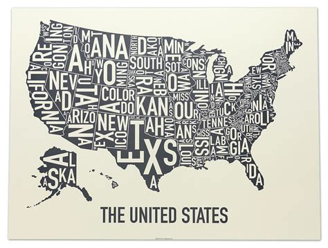 usa map poster united states map 24 quot x 18 quot waves of grey poster