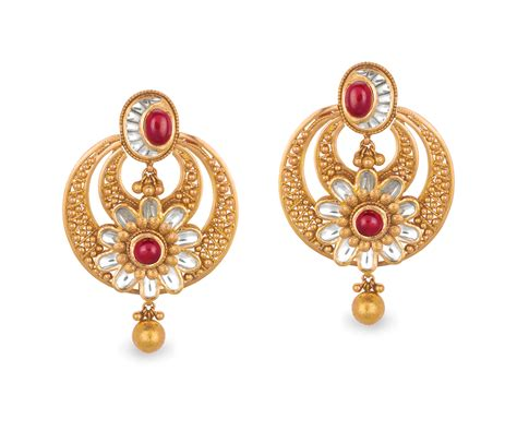 Buy Earrings by Buy Antara Chandbali Gold Earring For Best
