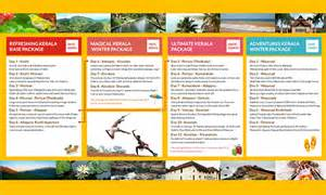 travel itinerary print brochure on behance