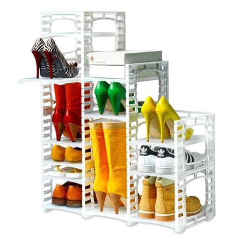 shoe storage solutions uk flexi shoe rack from tszuji shoe racks storage