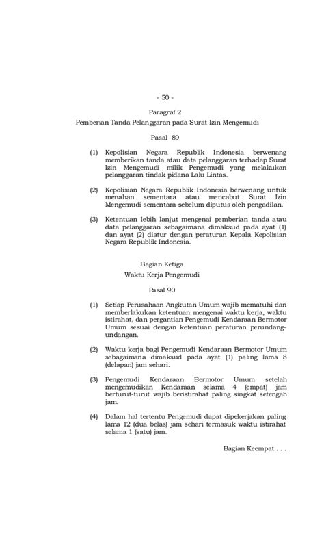 Undang Undang Lalu Lintas Dan Angkutan Jalan Uu No22 Thn 2009 undang undang no 22 tahun 2009 tentang lalu lintas dan