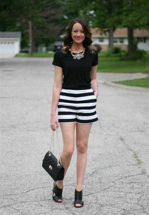 black and white patterned shorts outfit 1000 images about black and white striped shorts on pinterest