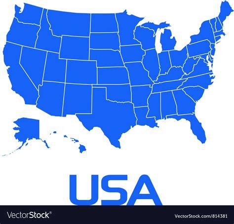free usa map graphic usa map royalty free vector image vectorstock
