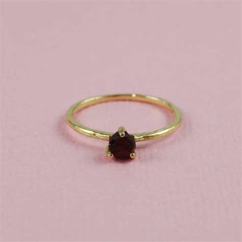 gold garnet birthstone ring january tooriginal