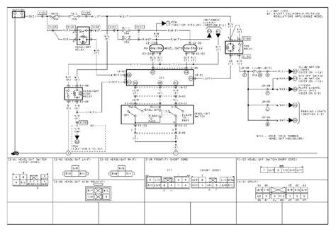 mitsubishi headlight wiring diagram free wiring