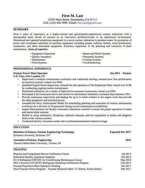Civilian Resume Format to civilian resume lifiermountain org