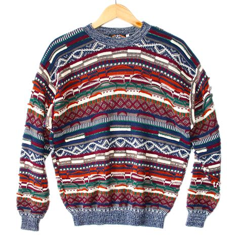 colorful sweaters textured colorful horizontal stripe cosby sweater the